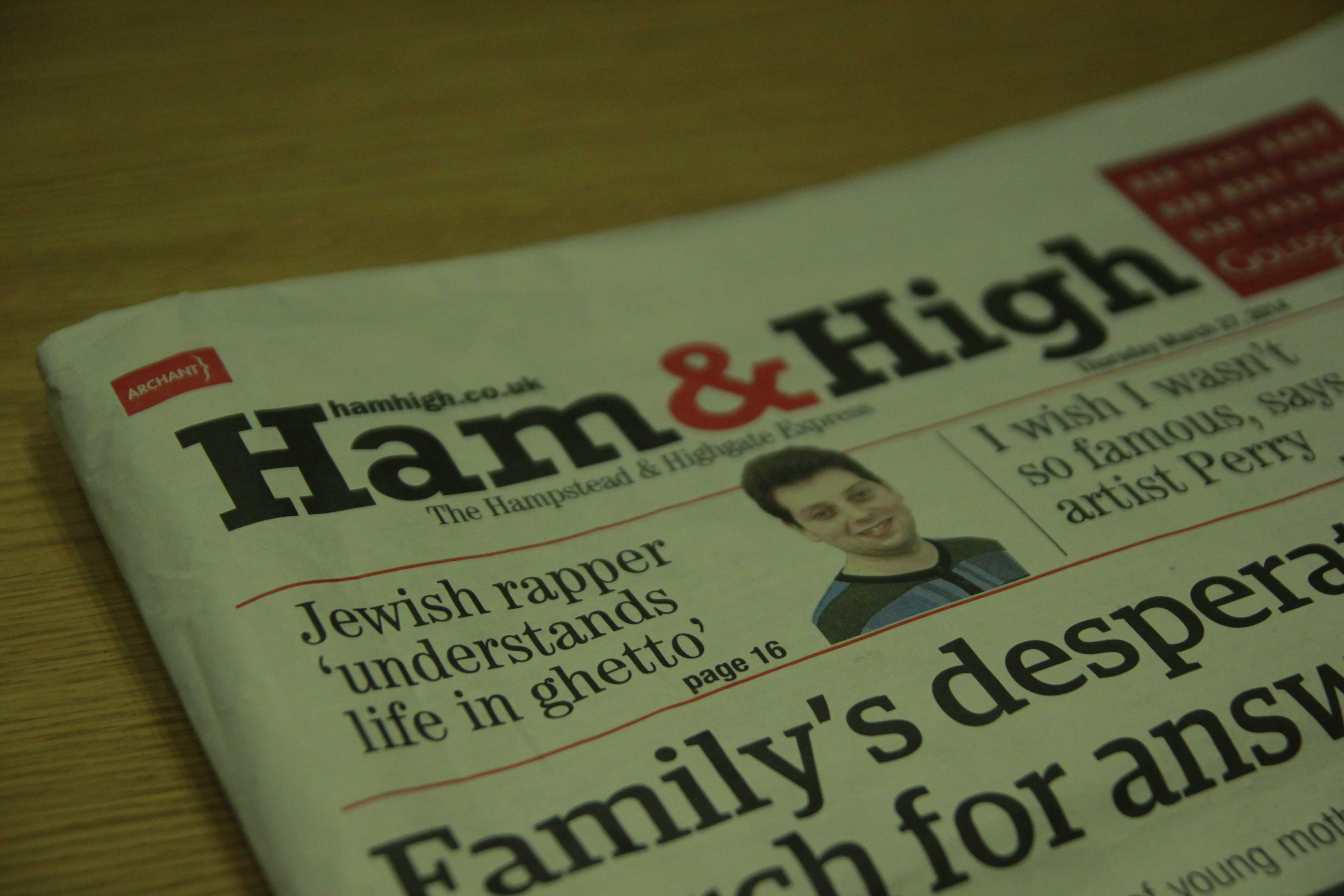 Newspapers | Straight outta… Golders Green| The Ham&High