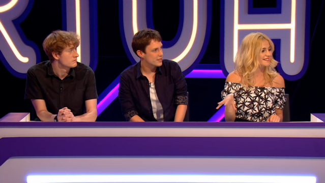 James Acaster, Chris Stark, and Pixie Lott on VirtuallyFamous